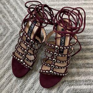 NEW Sergio Rossi Elettra Studded Heel Sandal